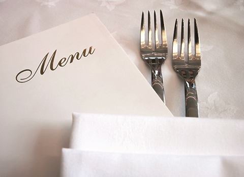 MENU WITH FORKS