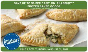 GM Pillsbury Frozen Baked Goods Rebate Q1 June-Aug 2018