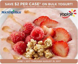 Yoplait Bulk Yogurt Rebate Q1 June-Aug 2018